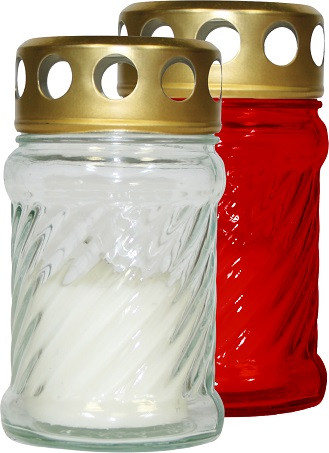 Лампада красная в стекле (1шт) 10 часов
