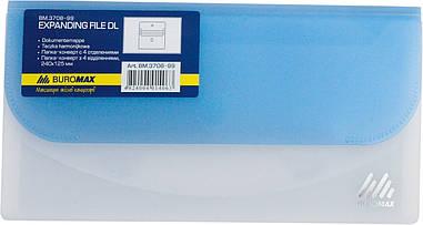 Папка-конверт DL на липучці TRAVEL 4отд. асорті
