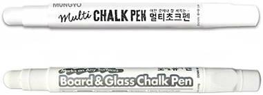 Маркер меловой Multi Chalk Pen, Белый, Mungyo