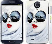 "Чехол на Samsung Galaxy S4 i9500 Девушка акварелью ""2829c-13"""