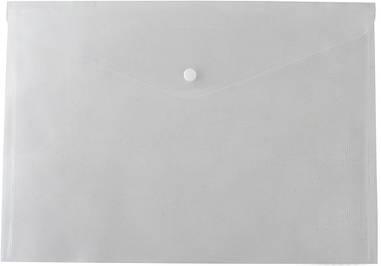 Папка-конверт А4 на кнопці прозора