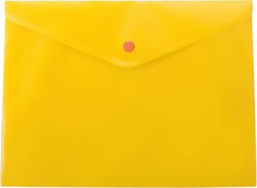 Папка-конверт А4 на кнопці непрозора жовтий