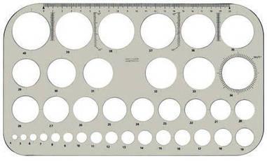 Трафарет, шаблон діаметрів Koh-i-noor акрил 165/280мм димчастий 74916100000