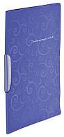 Скоросшиватель Buromax А4 фиолетовый Barocco с бок. прижимом, с планкой, PP (BM.3303-07)