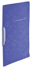 Швидкозшивач А4 Buromax фіолетовий Barocco з пліч. притиском, з планкою, PP (BM.3303-07)