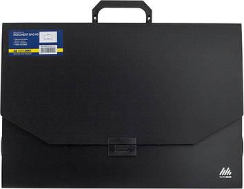 Портфель 32мм Buromax А3 1 отд. пластиковый замок черный BM.3725-01