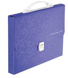 Портфель 35мм Buromax A4 210×297x35мм 1 отд. пластиковый замок Barocco фиолетовый BM.3719-07