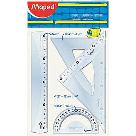 Компект линеек Maped ESSENTIALS Medium 4предмета 20см. (MP.242820)