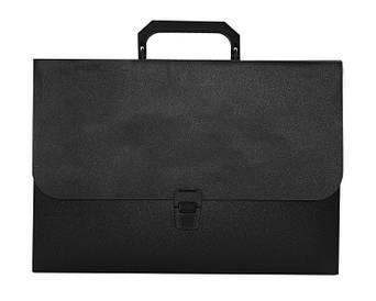 Портфель Buromax A4 210×297x35мм 1 отд. пластиковый замок черный BM.3735-01
