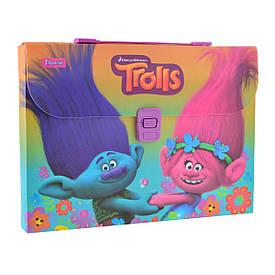 Портфель 1 Вересня A4 210×297x35мм 1 отд. пластиковый замок Trolls 491308