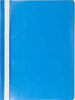 Скоросшиватель Buromax А4 голубой Jobmax усы, PP (BM.3313-14)