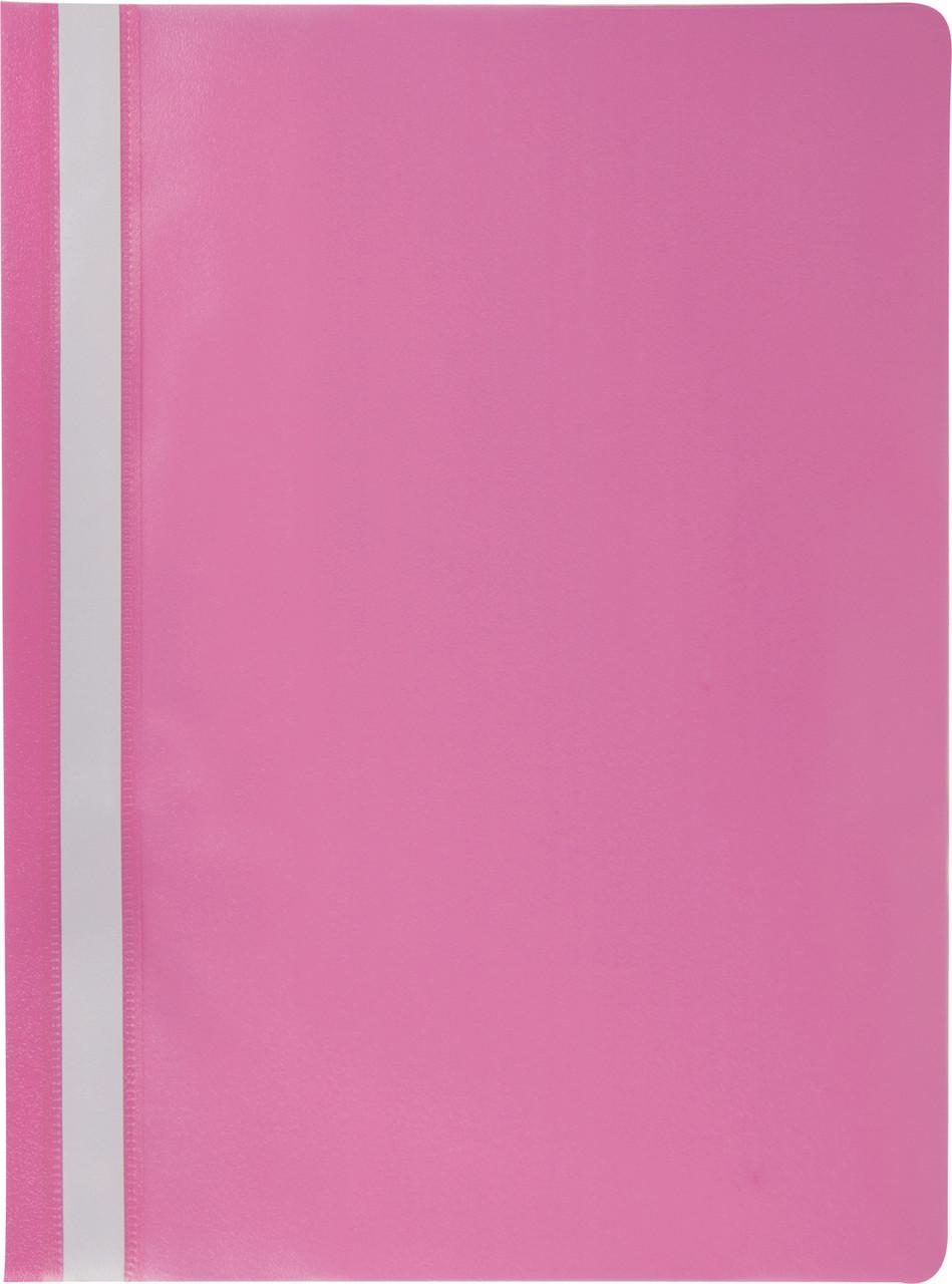 Скоросшиватель Buromax А4 розовый Jobmax усы, PP (BM.3313-10)