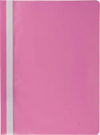 Скоросшиватель Buromax А4 розовый Jobmax усы, PP (BM.3313-10), фото 2