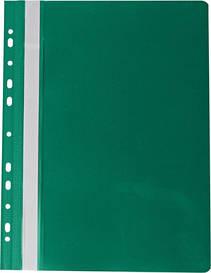 Скоросшиватель Buromax А4 зеленый Profesional усы, бок. перфорация, PP (BM.3331-04)