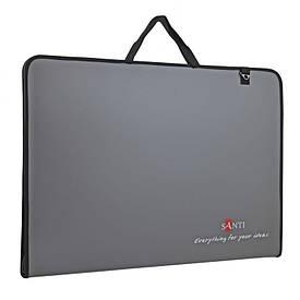 Папка-портфель SANTI для эскизов А2, ''Prestige'', (450x39x715мм), серая