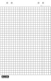 Блок паперу для фліпчартів Buromax 30 аркушів 64 х 90 см BM.2298