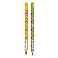 Карандаш цветной для рисования Yes Rainbow Jumbo треугольный с шестицветным грифелем микс 2 диз(290576)