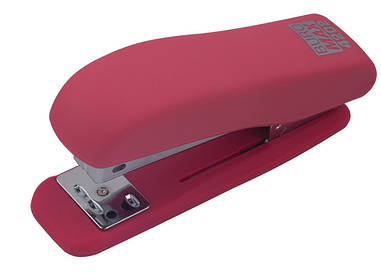 Степлер №10 Buromax RUBBER TOUCH 20л пластик. розовый BM.4202-10