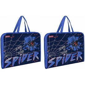 Папка-портфель 1Вересня на молнии с тканевыми ручками ''Spider''
