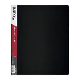 Папки на кільцях А4 Axent 4 кільця 35мм чорна 1208-01-A
