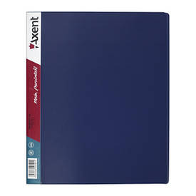 Папки на кільцях А4 Axent 4 кільця 35мм синя 1208-02-A