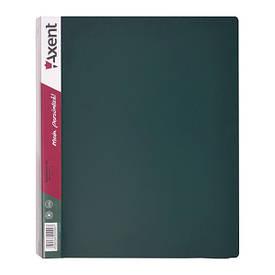Папки на кільцях А4 Axent 4 кільця 35мм зелена 1208-05-A