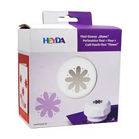 Фигурный дырокол, магнитный, Цветок, 4 см, Heyda