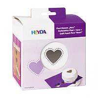 Фигурный дырокол, магнитный, Сердце, 4 см, Heyda