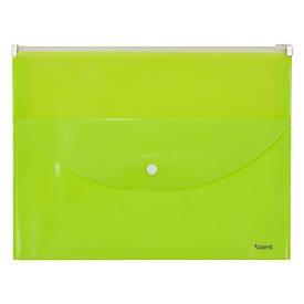 Папка-конверт А4 Axent zip-lock на 2 відділення жовта 1430-08-A