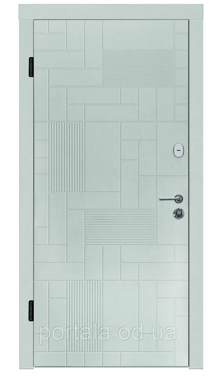 """Входная уличная дверь """"Портала"""" серия Трио RAL ― модель Каскад 2 (Три контура)"""