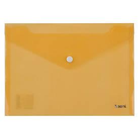 Папка на кнопці Axent А5 прозора помаранчева 1522-26-A