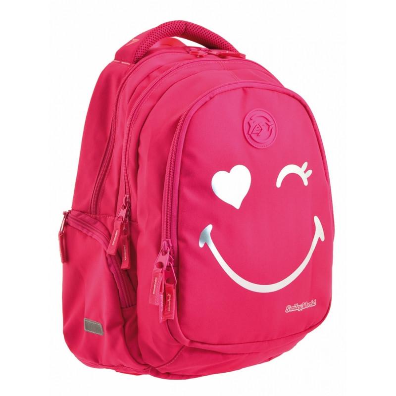 Рюкзак школьный Yes Т-22 отд. для ноутбука Smiley World  (556711)