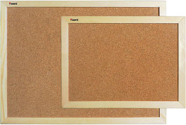 Дошка пробкова 45Х60см Axent дерев'яна рамка 9601-А