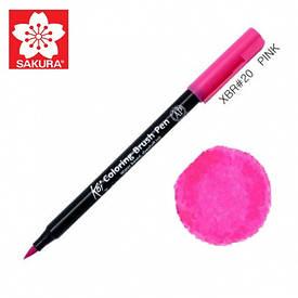 Маркер-кисточка акварельный KOI, Розовый (20), Sakura