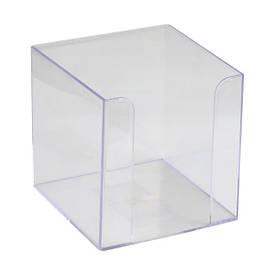 Подставка для блока бумаги Axent 90x90x90 мм прозрачная (D4005-27)