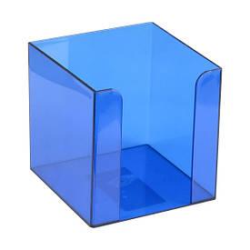 Подставка для блока бумаги Axent 90x90x90 мм синяя (D4005-02)