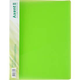 Папка-скоросшиватель Axent А4 зеленый с пружиной, бок. карм. (1304-26-a)