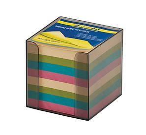 Бокс з папером Buromax кольорова 90х90х90мм димчастий BM.2291-02