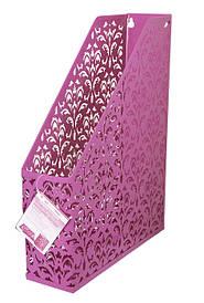"Лоток вертикальний Barocco"" 338х248х70мм металевий рожевий"