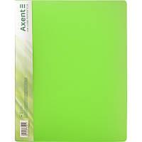 Папка с прижимом Axent A4,прозрачная,зеленая 1301-26-a
