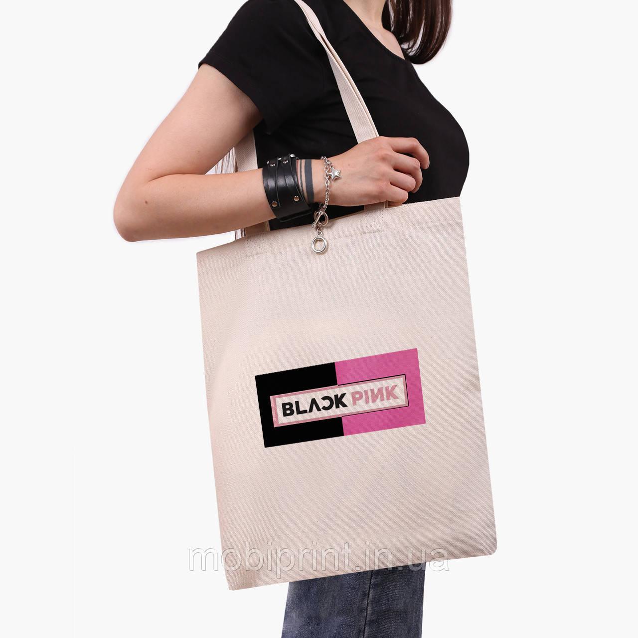 Эко сумка шоппер Блек Пинк (BlackPink) (9227-1344)  экосумка шопер 41*35 см