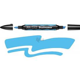 Маркер двухсторонний, Brushmarker, (B137), Небесно-голубой, Winsor & Newton