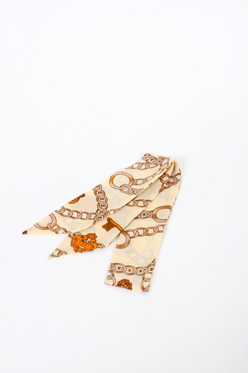 Узкие шарфы FAMO Шарф Канна бежевый 88*5 (G-1901-10)