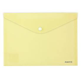 Папка А5 на кнопці Axent Pastelini жовта (1522-08-A)