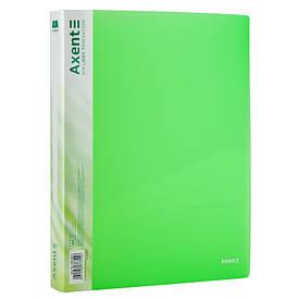 Папки на кільцях А4 Axent 4 кільця 35мм прозора зелена (1208-26-A)
