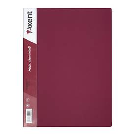 Папка з файлами Axent А4 дисплей-книга 10 файлів бордова 1010-04-А