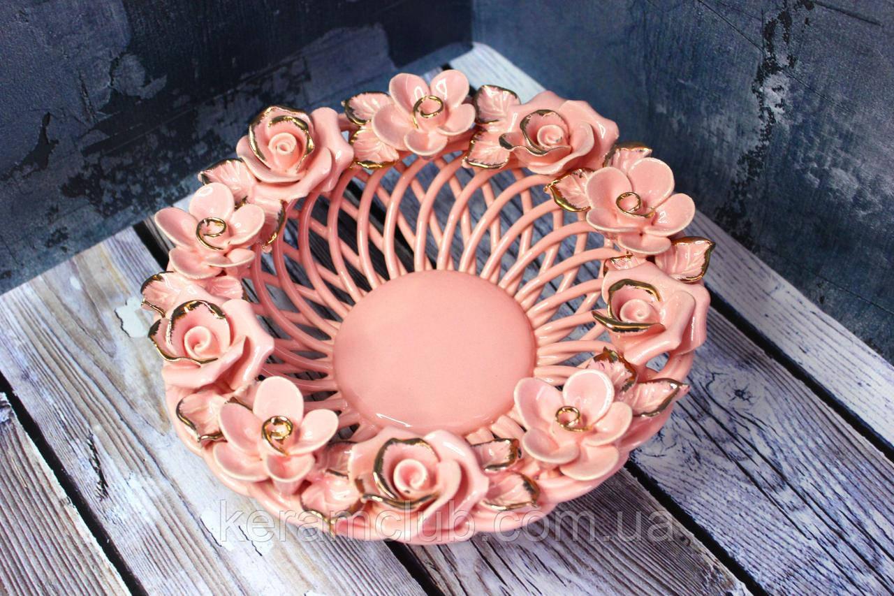 Плетёнка Василиса розовая h 8см