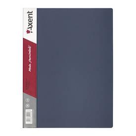 Папка з файлами Axent А4 дисплей-книга 10 файлів сіра 1010-03-А