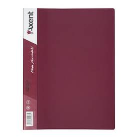 Папка з файлами Axent А4 дисплей-книга 30 файлів бордова 1030-04-А