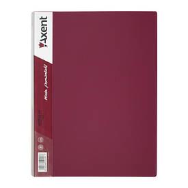 Папка з файлами Axent А4 дисплей-книга 60 файлів бордова 1060-04-А